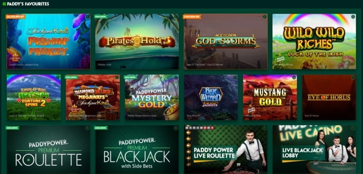 paddy power list of top games