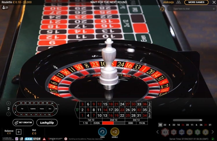 betfair casino live roulette table