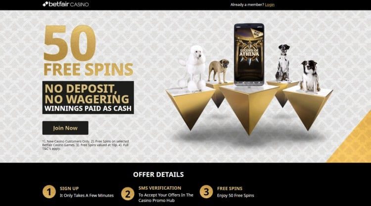 betfair casino no deposit welcome bonus for new players