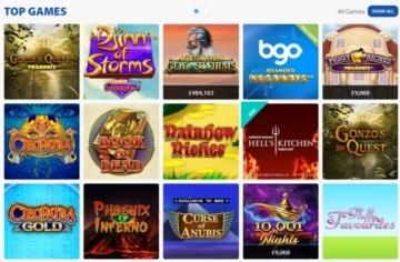 bgo top casino games