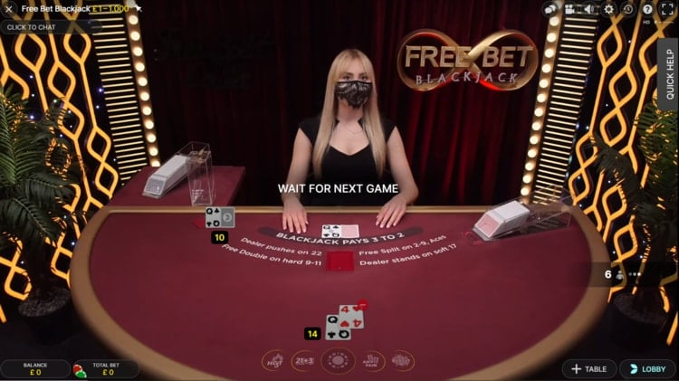 casimba live blackjack table
