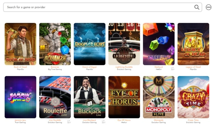 casimba top casino games