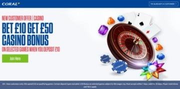 coral casino welcome offer for new players