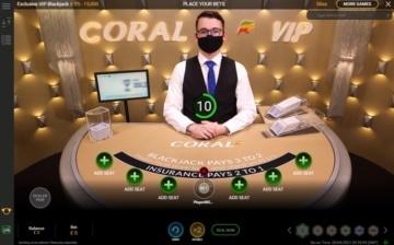 coral live vip blackjack