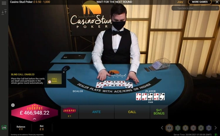coral casino stud poker