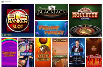 coral casino top games