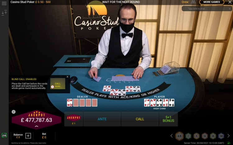 mansion casino live poker table