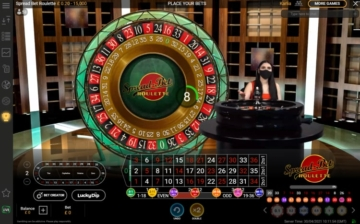 mansion casino live roulette table