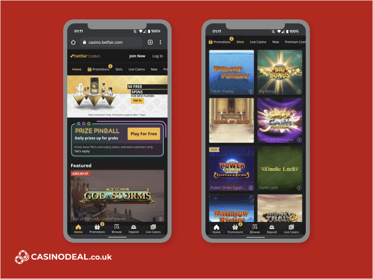 betfair casino mobile screenshot