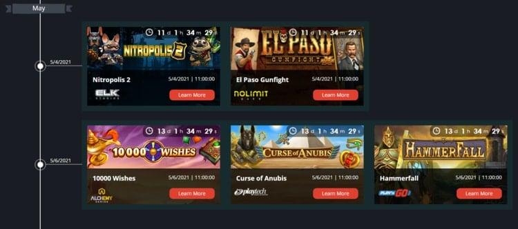 novibet casino roadmap