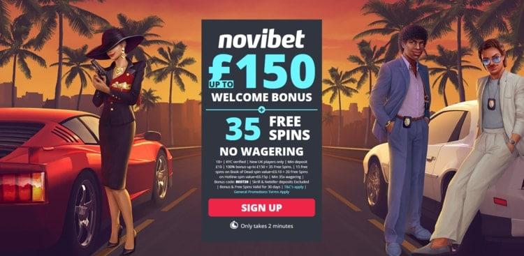 novibet welcome bonus for new casino players