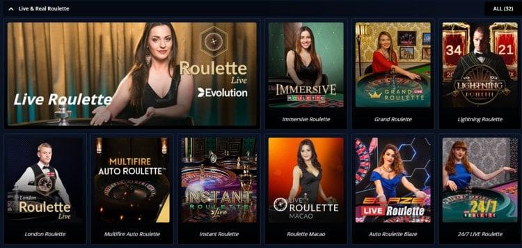 novibet live casino games lobby