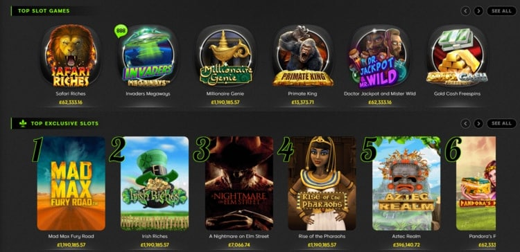 888casino top slots and games