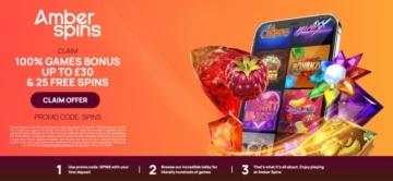 amber spins exclusive welcome bonus