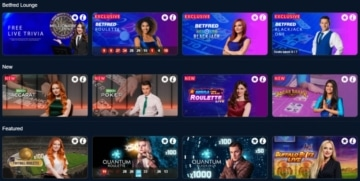 betfred live casino games lobby