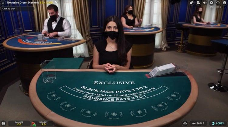 casino lab live blackjack table