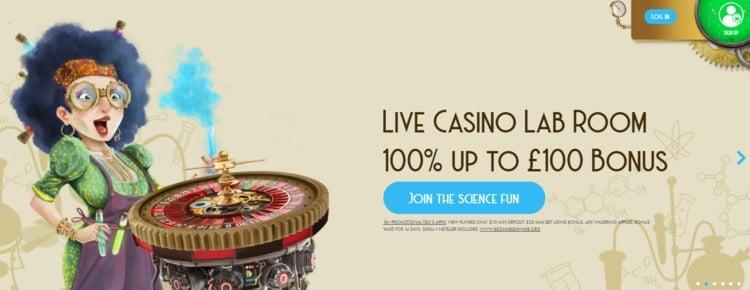 casino lab live casino welcome bonus for new players