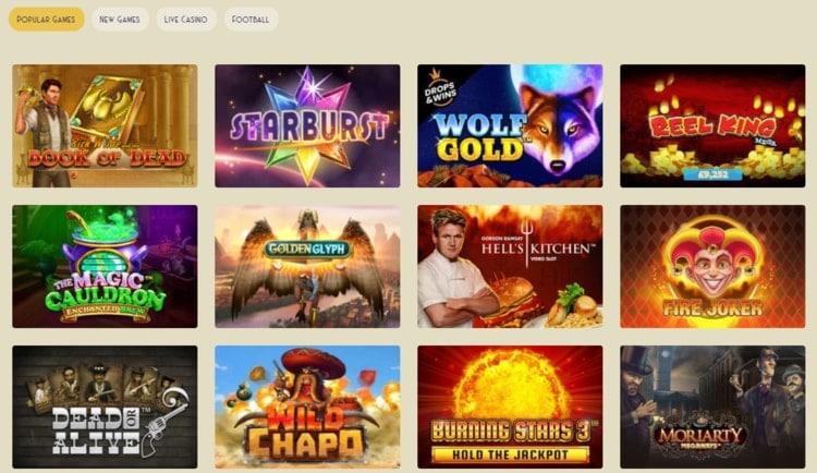 casino lab popular casino games
