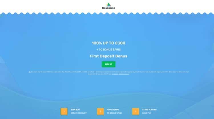 casilando welcome bonus for new UK players