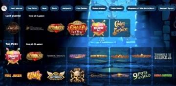 duelz top casino games