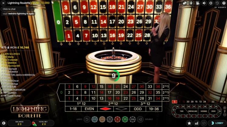 duelz casino lightning roulette