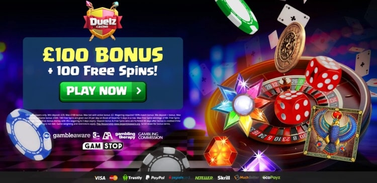 duelz casino welcome bonus for new players