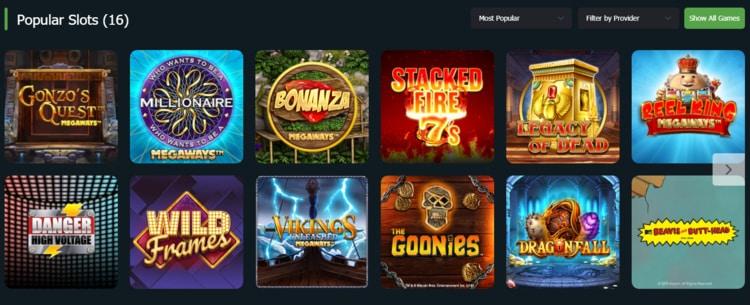 fansbet casino list of top games