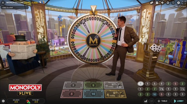 fansbet casino monopoly live gameplay
