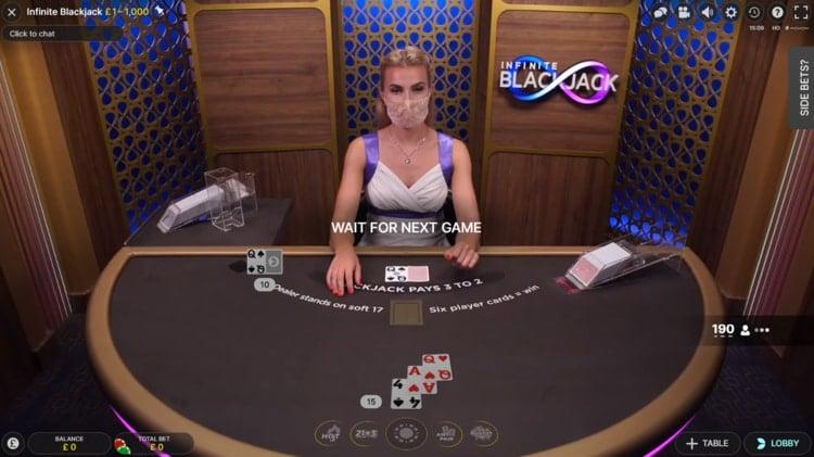 fansbet casino live blackjack table