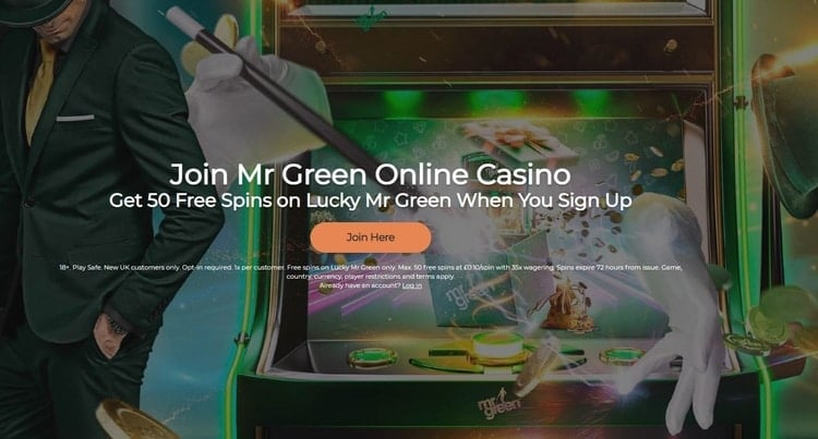 mr green casino welcome bonus offer for new players
